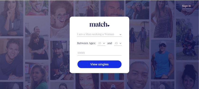 match com homepage